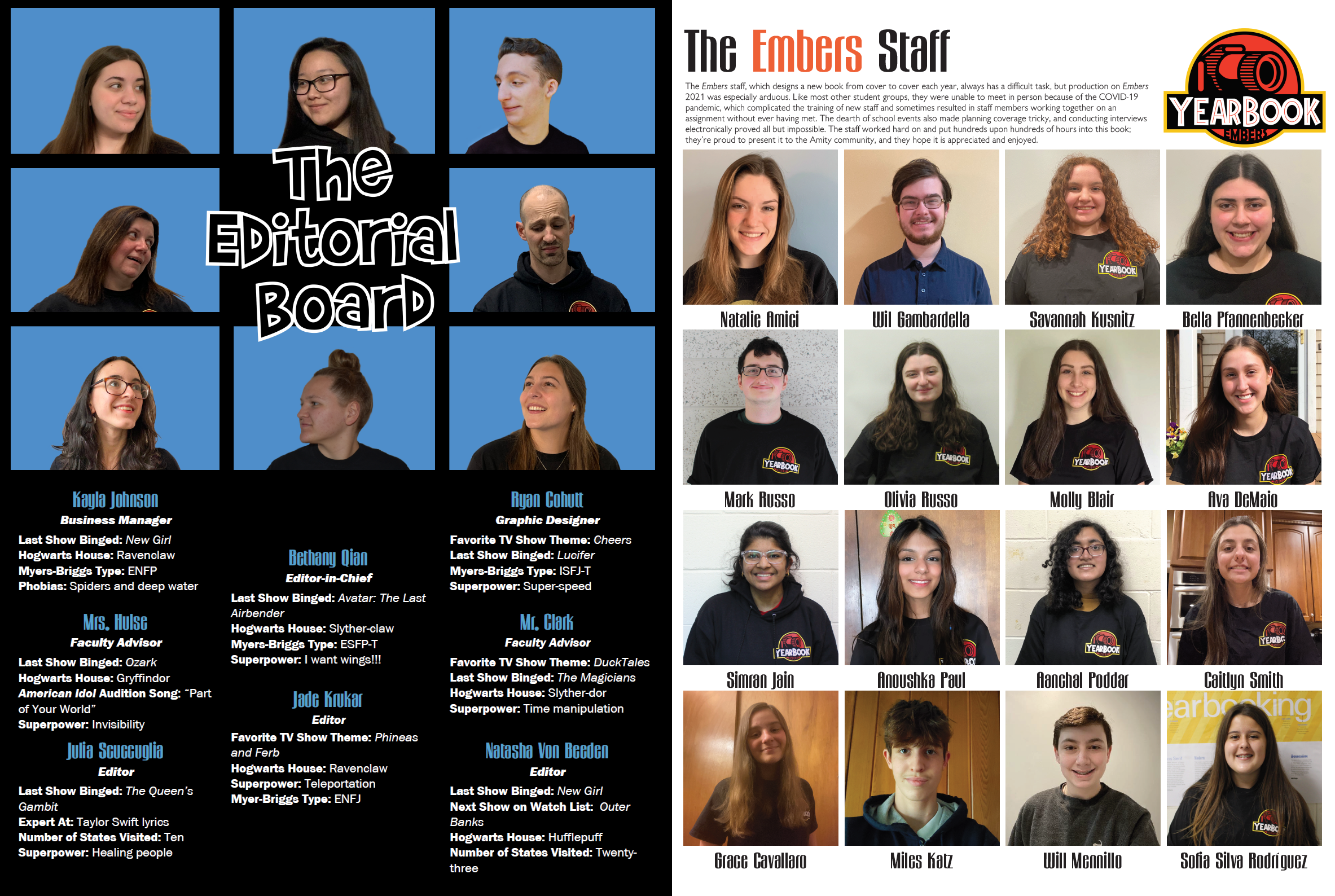 The Embers 2021 Staff